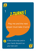 WordHoo Educational Game 2 Turns Zap Card