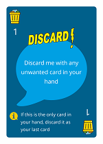 WordHoo Educational Game Discard Zap Card