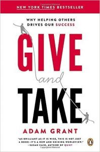 Give and Take Why Helping Others Drives Our Success Book Cover