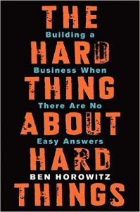 Hard Thing About Hard Thing Book Cover